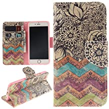 """Juzi iPhone 6 & iPhone 6S Case, Leather Wallet Case Back Cell Phone Shell Skin Magnetic Flap Cover with Credit Card Holder for iPhone6 (4.7"""") / iPhone6S (4.7"""")"""