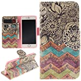iphone6 cover card holder - iPhone 6 & iPhone 6S Case, Juzi® Leather Wallet Case Back Cell Phone Shell Skin Magnetic Flap Cover with Credit Card Holder for iPhone6 (4.7
