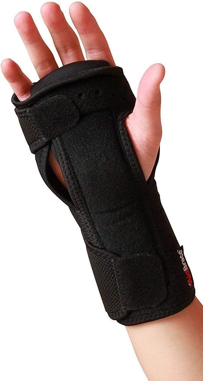 AidBrace Night Wrist Sleep Support Brace - Fits Both Hands - Cushioned to Help with Carpal Tunnel and Relieve and Treat Wrist Pain - Adjustable: Health & Personal Care