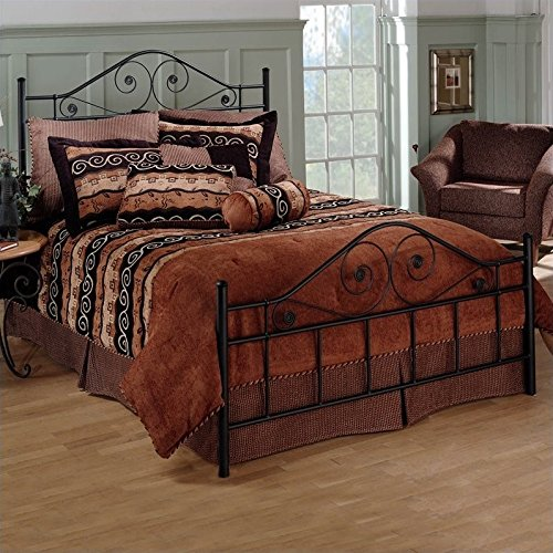Bowery Hill Full Metal Bed in Textured Black Finish