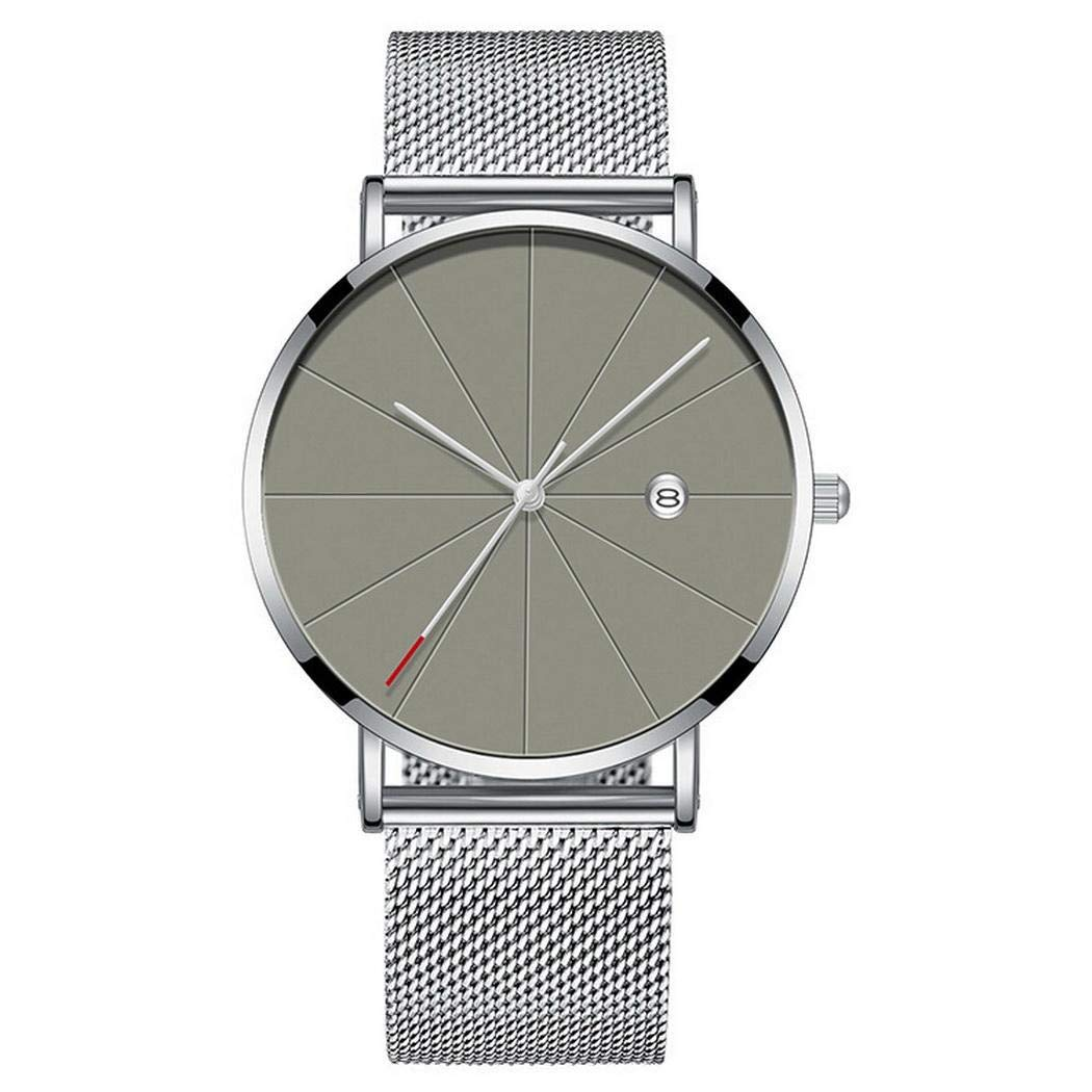Amazon.com: Mens Watches, Men Fashion Alloy Mesh Belt Wristband Round Dial Quartz Watch: Clothing