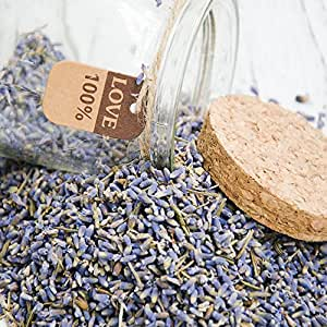 One Lavender Seeds Small Bottle 5A+ Quality Lavender Buds Gift for Love with Small Glass Bottle Dried Lavender Flower Buds with 100% Love Tag