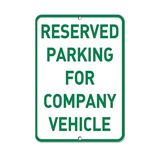 Kia Haop Reserved Parking For Company Vehicle Parking Metal ...