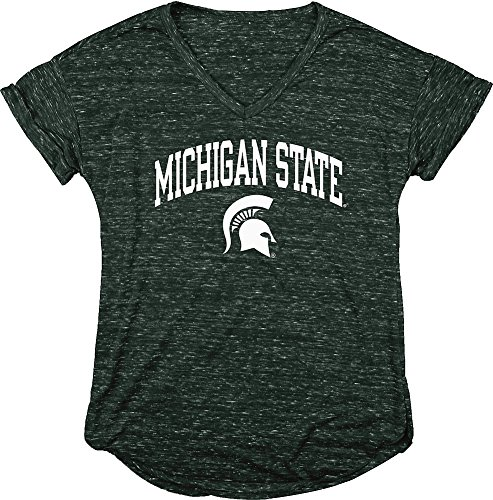 Michigan State Ladies T-shirt - Elite Fan Shop Michigan State Spartans Womens Vneck Tshirt Green - XL
