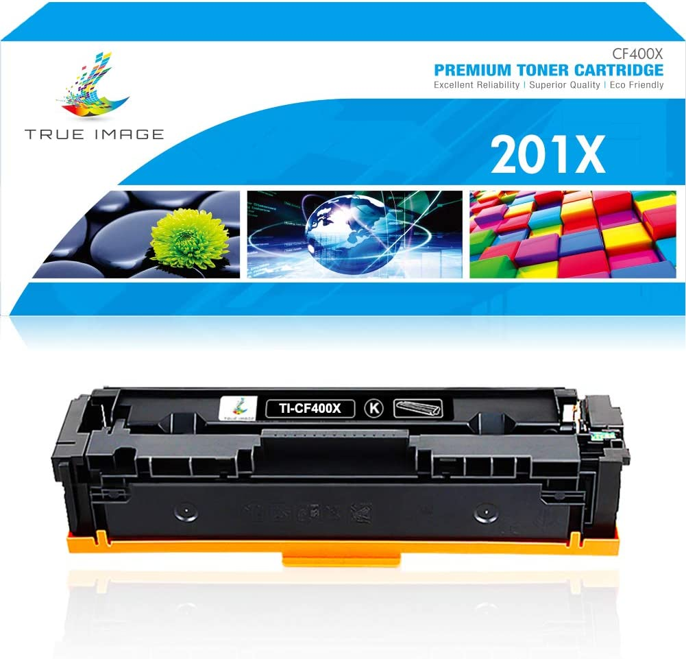 True Image Compatible Toner Cartridge Replacement for HP 201A CF400A 201X CF400X Color Laserjet Pro MFP M277dw M277n M277C6 M277 M252dw M252n M252 Printer Ink (Black, 1-Pack)