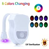 Amazon Price History for:Toilet Night Light , Motion Activated LED Light , 8 Colors Changing Toilet UV Bowl Night light for Bathroom