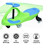 R for Rabbit Iya Iya Scratch Free Twister Magic Swing Car Ride ons for Kids of Above 3 Years Strongest & Smoothest PU Wheels with 125 Weight Capacity & ABEC 7 Bearing (Green Blue)