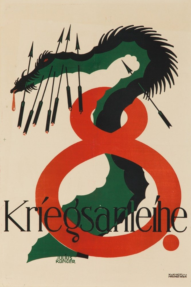 Kriegsanleihe 8ヴィンテージポスター(アーティスト: Julius Klinger )オーストリアC。1918 36 x 54 Giclee Print LANT-64025-36x54 B01M3TEFRM  36 x 54 Giclee Print