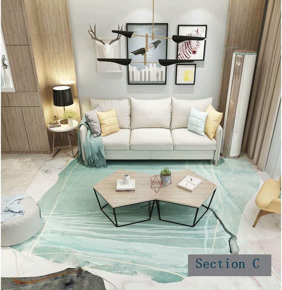 Color : Dark Coffee, Size : 160200cm CarPet Foyer Door Mat Thick Non-Slip Living Room Sofa Bedroom Bedside Sofa Coffee Table Blanket