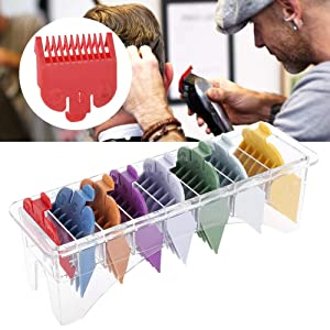8 Sizes Colored Hair Limit Comb, Universal Hair Clipper Attachment Limit Comb Hair Clipper Guide Hair Clipper Haircut or Electric Hair Clipper Shaver Coded Cutting Guides for Men