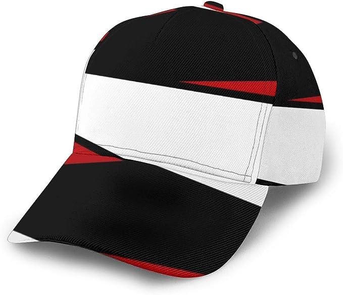 Gorra de béisbol Ajustable, diseño de Rayas, Color Negro, Blanco ...