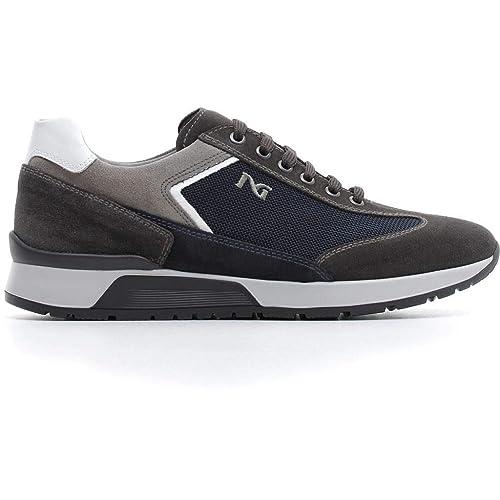 outlet store 2011b e97fb Nero Giardini Uomo Sneaker A800467U Grey Scarpa in camoscio Autunno Inverno  2019