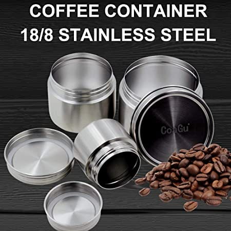 5b958929bb3 Amazon.com: CoaGu 24oz Coffee Container Airtight Toddler Snack Container no  spill Coffee Bin 18/8 Stainless Steel Lunch Containers Gift, BPA Free  Dishwasher ...
