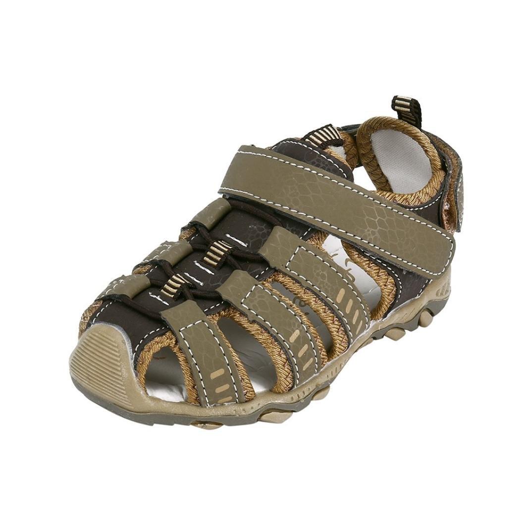 OWMEOT Baby Boys Girls Moccasins Soft ❤️Sole Tassels Prewalker Anti-Slip Shoes 26-37 (Brown, 37)