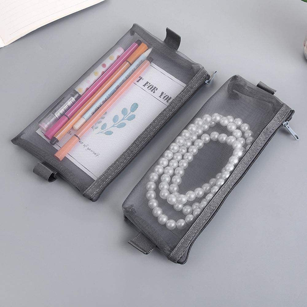 Yvonnezhang Estuche de lápices de Malla Transparente Simple Estuches de lápices de Oficina para Estudiantes Nylon Kalem Kutusu Útiles Escolares Estuche de lápices Regalo de Estudiante, 7LF86F10LH: Amazon.es: Deportes y aire libre