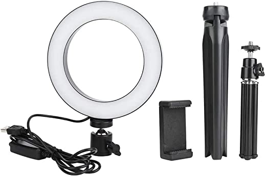 High quality Ring Light Kit 16cm Led Dimmable Led Video Ring Light Camera Lamp Kit With Desktop Tripod Mobile Phone Holder Usb Port For Live Broadcast Beauty And Photography