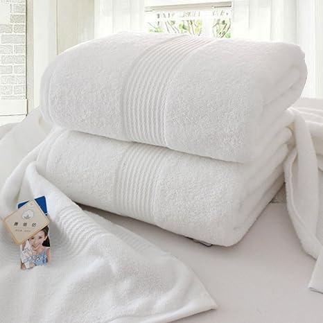 gruesas toallas blancas/Hotel toalla algodón mujeres adultas aumentemos/ suave y absorbente toalla de