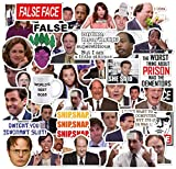 The Office Stickers,50 Pack of Classic TV Funny Stickers for Laptop Themed,Water Bottles Stickers,Micheal Scott,Funny Laptop Decals,Hydro Flask Stickers
