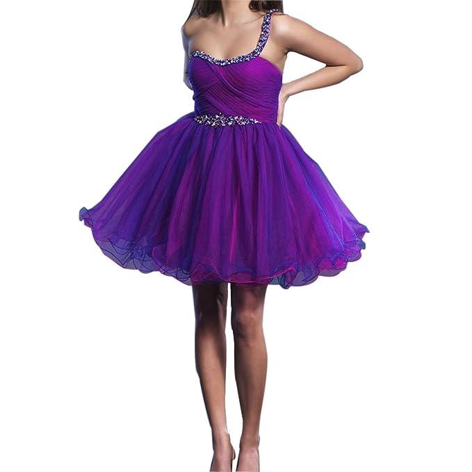 Pedrería Sexy Elegante Mujeres Chica Sin Tirantes Sin Mangas Baile Banquete Partido Vestido Púrpura: Amazon.es: Ropa y accesorios