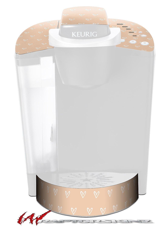 Heartsピーチ – デカールスタイルビニールスキンFits Keurig k40 Eliteコーヒーメーカー( Keurig Not Included )   B06W2GLCY5