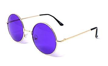 UltraByEasyPeasyStore Adultos Gafas De Sol Redondas Estilo Retro John Lennon Calidad Vintage UV400 Elton Hombres Mujeres Unisex Clásicas