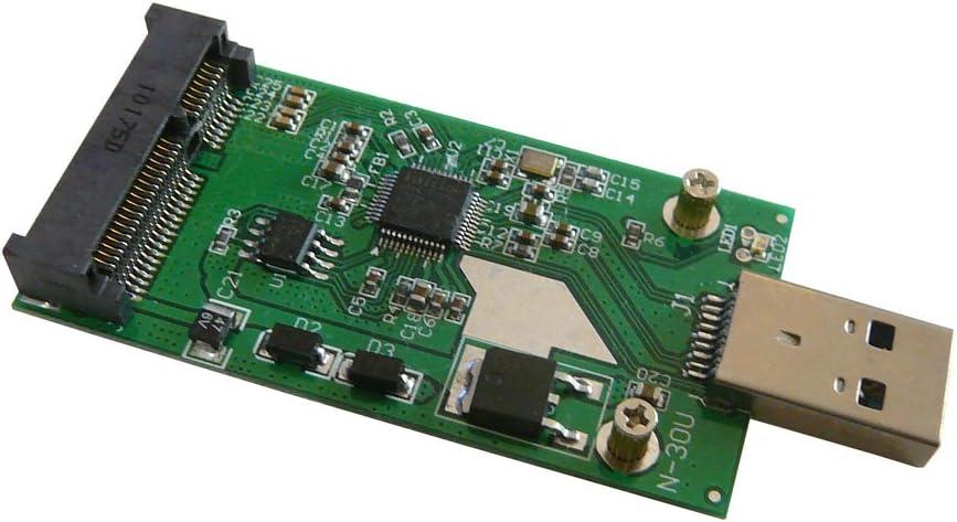 USB 3.0 Mini PCIe mSATA SSD tarjeta adaptadora de controlador de ...