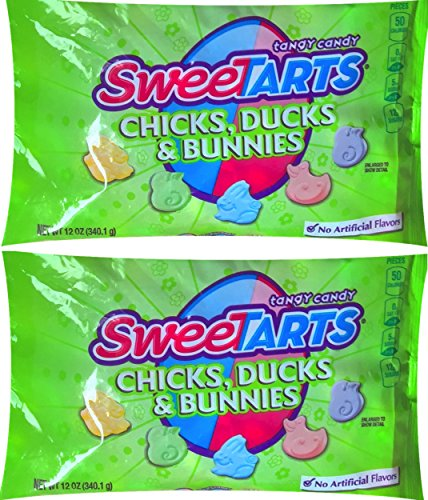 Sweetarts Easter Candy Chicks, Ducks, & Bunnies Tangy Candy 12 Oz (Pack of (Easter Tart)
