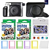Fujifilm INSTAX Wide 300 Photo Instant Camera With Fujifilm Instax Wide Instant Film Twin Pack Instant Film (40 Shoots) Accessories includes: Custom Case+Assorted Frames+Photo Albums+Colorful filters