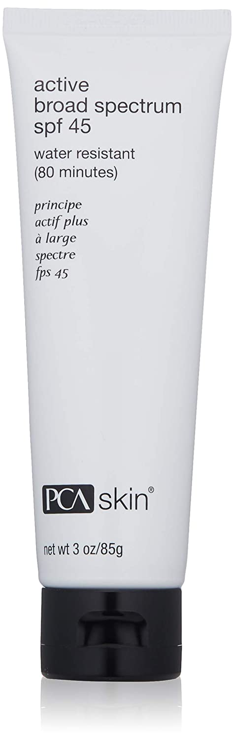PCA SKIN Active Broad Spectrum SPF 45, Zinc Oxide Water & Sweat Resistant Sunscreen
