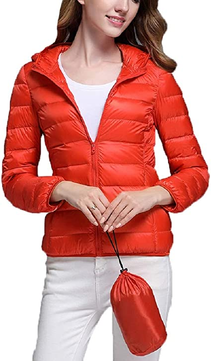 Dotoo 90/% White Duck Down Winter Ladie Down Jacket On Both Sides Wearing A Thin Collar