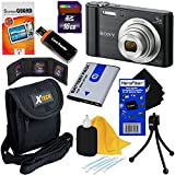 Sony Cyber-shot DSC-W800 20.1 MP Digital Camera with 5x Zoom and Full HD 720p Video (Black) - International Version + NP-BN1 Battery + 8pc 16GB Accessory Kit w/HeroFiber Ultra Gentle Cleaning Cloth