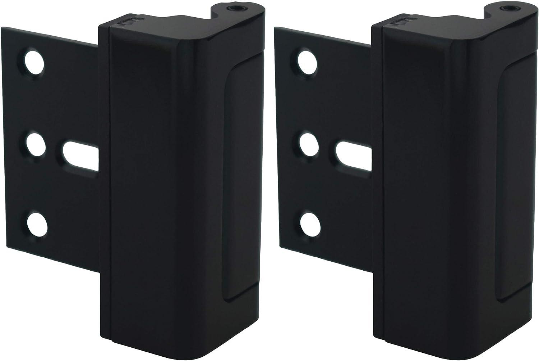Door Lock for Home Security (2-Pack) - Easy to Install Door Latch Device, Aluminum Construction, Satin Nickel Door Locks for Door Security | Child Proof & Tamper Resistant, Black Door Locks