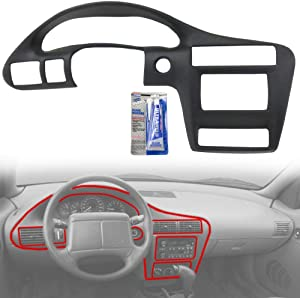 Instrument Panel Cover compatible with Chevy Cavalier 00-05 Black ABS Plastic