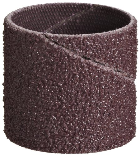 "3M Cloth Band 341D, Aluminum Oxide, 3/4"" Diameter x 3/4"" Width, 80 Grit (Pack of 100) from Cubitron"