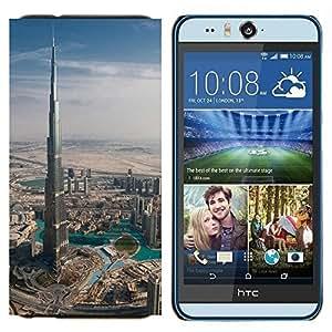 EJOOY---Cubierta de la caja de protección para la piel dura ** HTC Desire Eye M910x ** --Arquitectura Burj Dubai el edificio más alto de Dubai