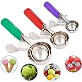 Eis Schaufeln, Cookie Scoop Kugelausstecher mit Auslöser für Obst, Eis Edelstahl Löffel scoopers- Elegante Geschenk-Paket