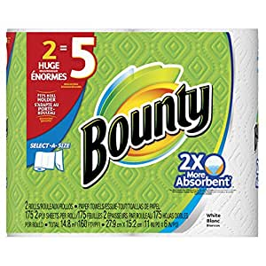 Bounty Select-A-Size Paper Towels, 12 Huge Rolls