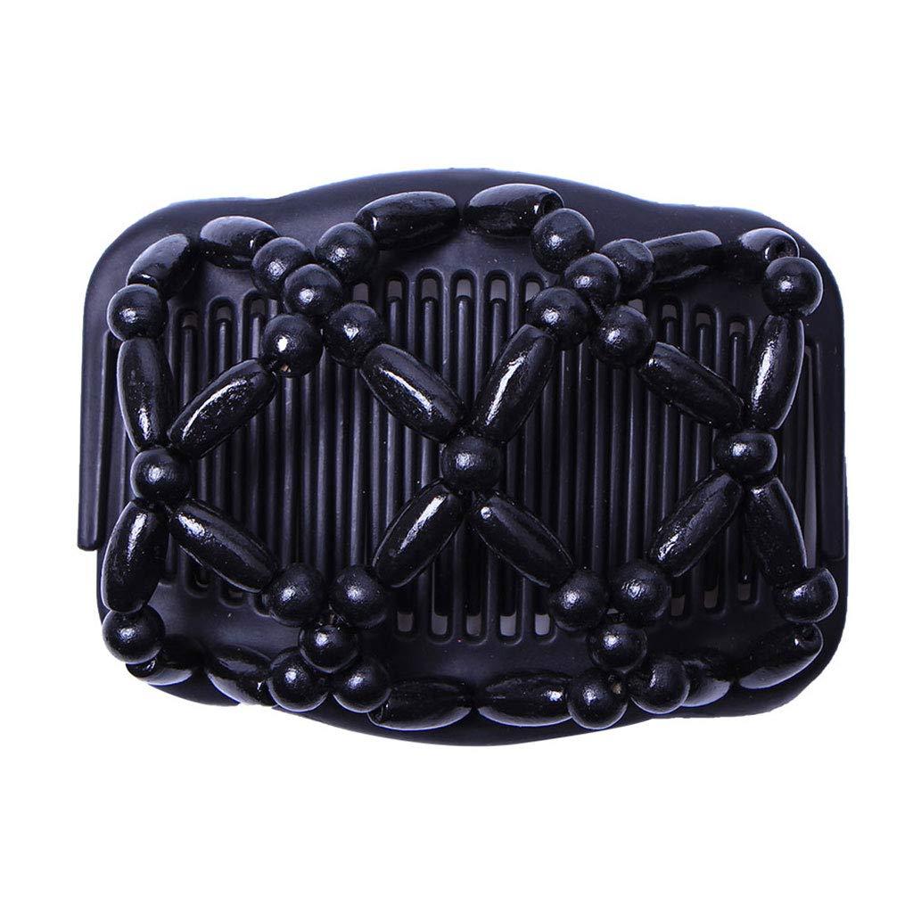 Xuniu Frauen Haarspangen, Stretchy Magic EZ Doppelkamm Schönheit Perlen DIY Frisur 2# 17x10.3cm