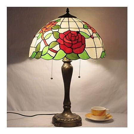 Lámpara de Escritorio de Cristal Hecha a Mano Tiffany de 16 ...