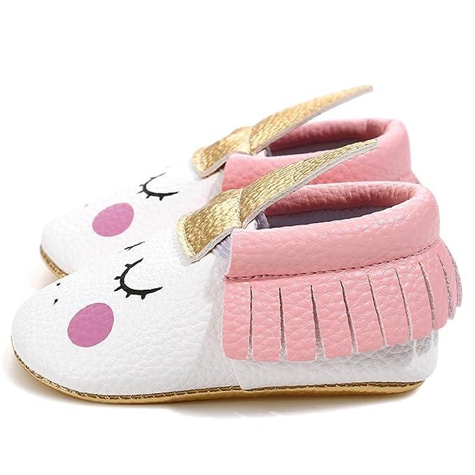 3d5d42dbdbf3 Amazon.com  Highpot Baby Girls Non-Slip First Walkers Tassel Golden Angle  Unicorn Crib Shoes  Clothing
