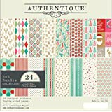 Authentique Colorful Christmas 6 x 6 Cardstock Paper Pad