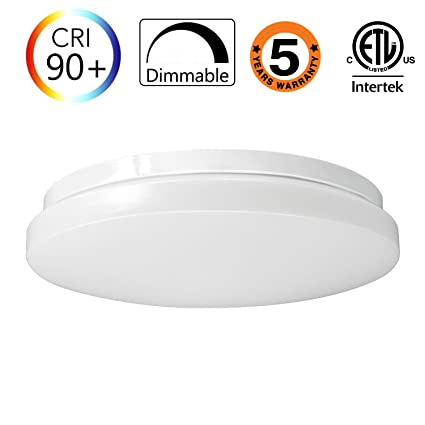 15W 11-Inch Warmlight White Dimmable LED Ceiling Lights, 100W ...