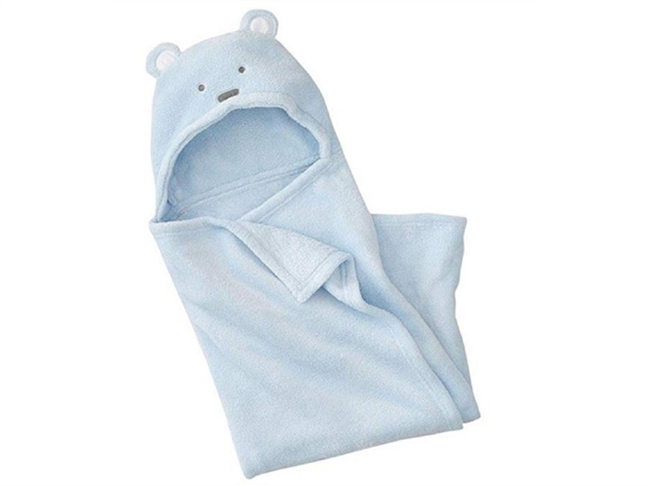 Wesource Activates Infant Toddler Cartoon Animal Bathrobe Towel Hooded Shawl(Blue)