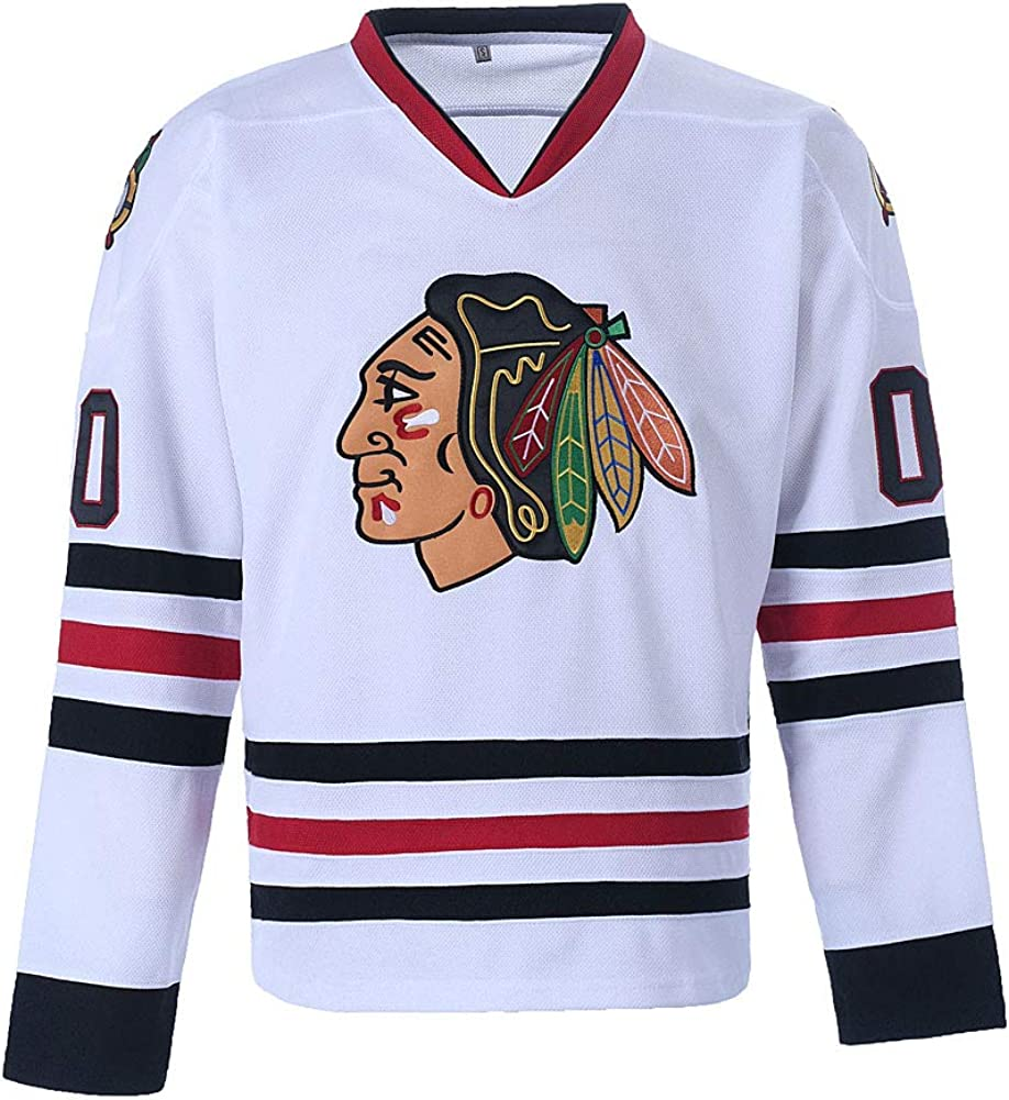 Youth Clark Griswold #00 X-Mas Christmas Vacation Movie Ice Hockey Jersey: Clothing
