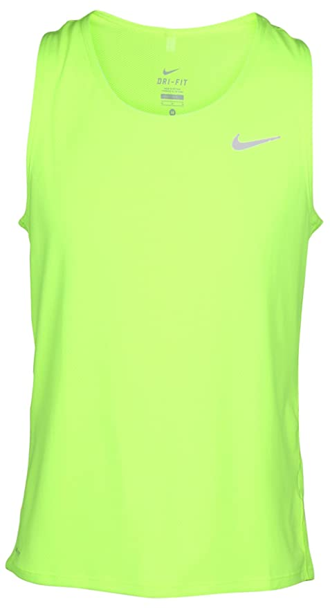 168776d59 Buy Nike Men's Dri-Fit Contour Running Singlet-Volt-2XL Online at Low  Prices in India - Amazon.in