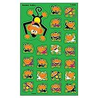 Trend Enterprises Monkey Antics Super Shapes Stickers (184 Piece), Large