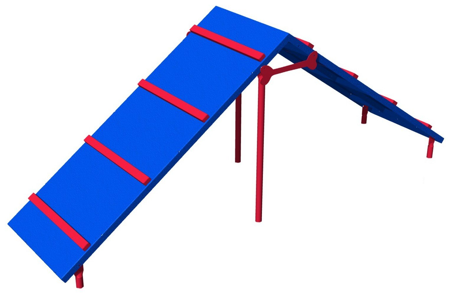 BarkPark King of The Hill Dog Agility A-Frame, Blue/Red