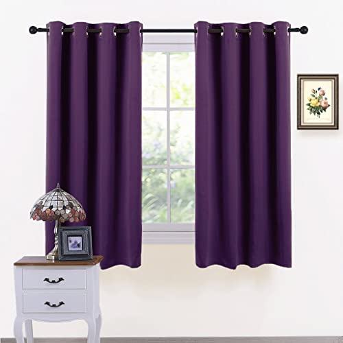 Construction Time Lined Curtains: PLUM FAUX SILK LINED CURTAINS WITH EYELET RING TOP 66 X 90