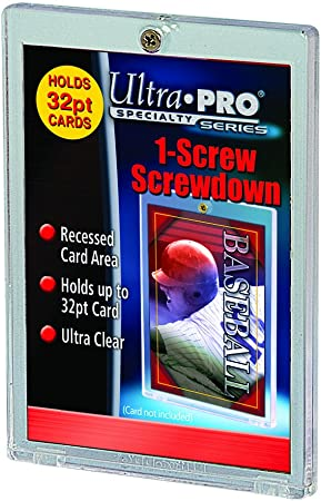 10-Pack Ultra Pro 1-Screw Screwdown Trading Card Holders Recessed Regular 32pt