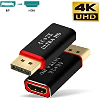 Displayport to HDMI Adapter Converter, TERSELY 4K x 2K @30Hz 3D Gold Plated Display Port DP to HDMI Converter Male to Female (1 Pack)
